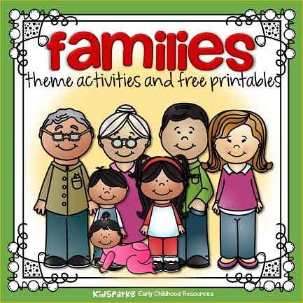 photo about Family Printables known as Households topic routines and printables for preschool and