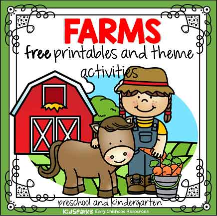 Farms preschool and prek theme