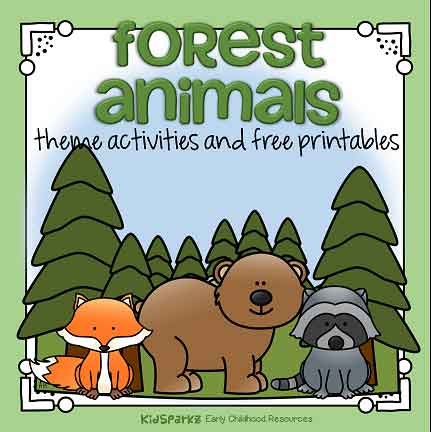 Forest animals preschool theme
