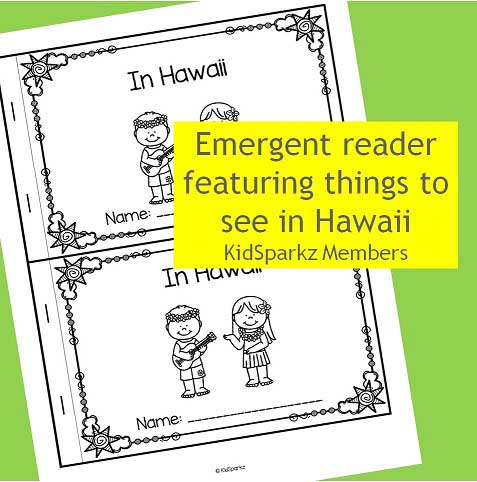 Emergent reader featuring things to see in Hawaii
