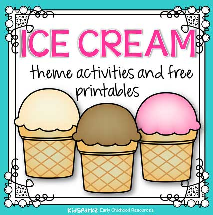 photograph regarding Ice Cream Printable called Ice product concept routines and printables for preschool and