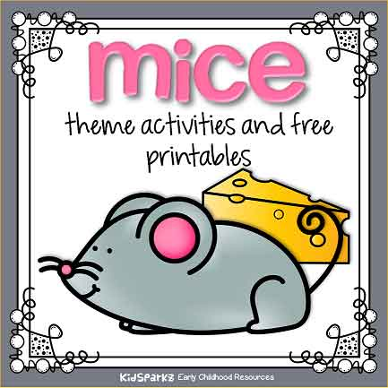 Mice theme activities for preschool and prek curriculum