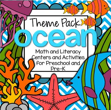 Oceans preschool theme pack