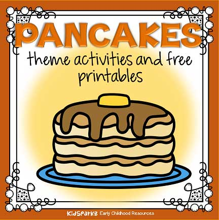 Pancakes theme activities for preschool