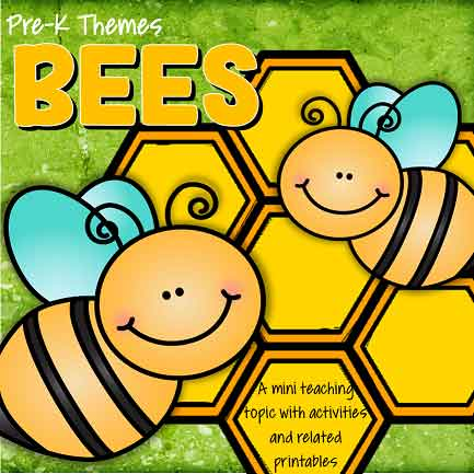BEES theme pack for preschool and pre-K - 45 pages.