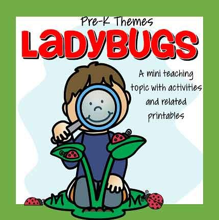 LADYBUGS theme pack for preschool and pre-K - 43 pages.