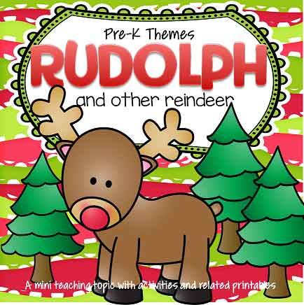 Rudolph reindeer theme for December