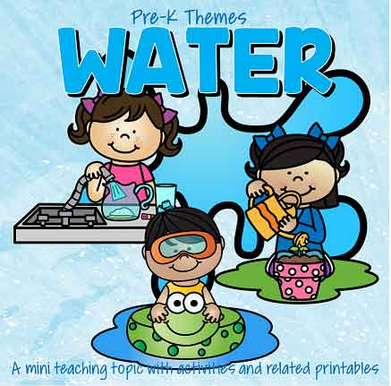 WATER theme pack for preschool and pre-K