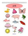 Free color pink preschool printables