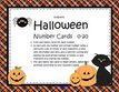 Halloween number cards - 0-20.