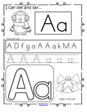 Alphabet practice printables for a winter theme-28 pages