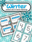 Winter numbers flashcards to 20