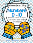 Mitten Matching - Numbers: Match pairs of mittens picturing various different ways that numbers can be represented (0-10). 48 pgs.