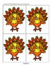 Thanksgiving theme -  counting, hiding and finding large turkey flashcards