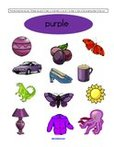 Free color purple preschool printables