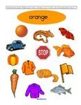 Free color orange preschool printables