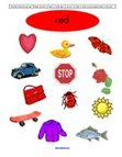 Free color red preschool printables