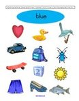 Free color blue preschool printables