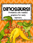 Dinosaurs printables - This is a large set of activity printables to add to your Dinosaurs theme unit.