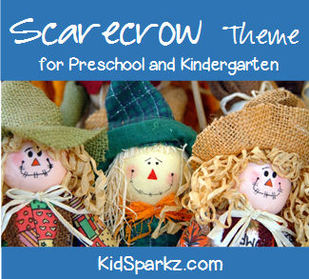 Scarecrows theme printables and activities for preschool and kindergarten