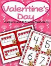 Winter 10 frames and numbers matching, sequencing flashcards to 20 for Valentine's Day.