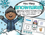 Winter number mats - recognizing the various forms numbers can take -0-10.