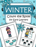 This is a simplified Winter Count the Room activity for early learners, with 4 differentiated recording pages. 21 pgs.