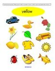 Free color yellow preschool printables