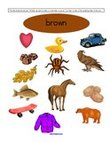 Free color brown preschool printables