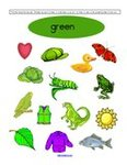 Free color green preschool printables
