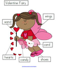 Let's label a Valentine Fairy - 3 differentiated ways.