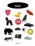 Free color black preschool printables