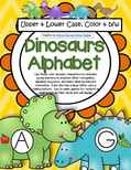 Dinosaurs Alphabet upper and lower case matching.-