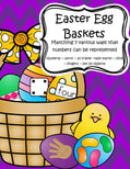 Easter egg baskets - Match 7 various ways that numbers can be represented, 0-10