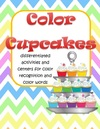 Colors activities with a cupcakes theme