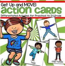 Action flashcards fro preschool and kindergarten