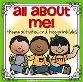 All About Me theme activities
