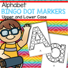 Trace the alphabet with bingo dot markers