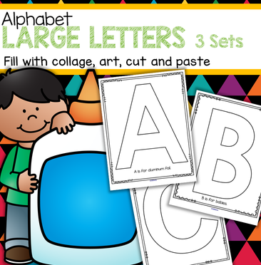 3 sets of large alphabet block letters