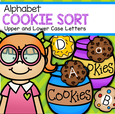 Alphabet cookie sort, upper and lower case.