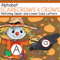 Scarecrows theme alphabet matching upper and lower case