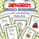 Set of photo alphabet wall posters with a set of coordinating flashcards. Both short and long vowel sounds are included.