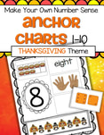 Children make their own cut and paste Thanksgiving themed number sense anchor charts. Can also be used as a center. 10 pages.