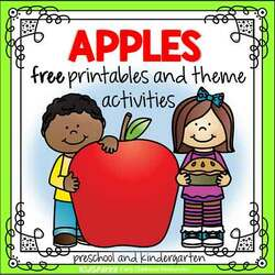 Apples preschool theme activities