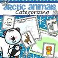Arctic animals categorizing center, plus follow-up printables