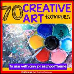 70 creative art techniques that can be used with most preschool themes.