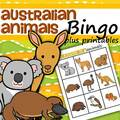 Australian animals bingo game plus supporting printables.