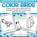 10 birds coloring packet.