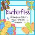 BUTTERFLIES - hands-on activity pages for a Spring theme.