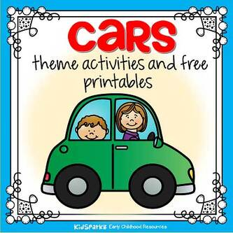 Cars theme activities and printables for preschool and kindergarten.